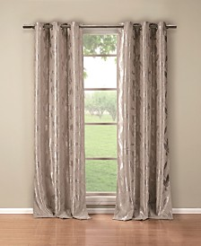 "Blair 36"" x 84"" Leaf Print Blackout Curtain Set"