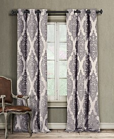 "Catilie 38"" x 84"" Damask Blackout Curtain Set"