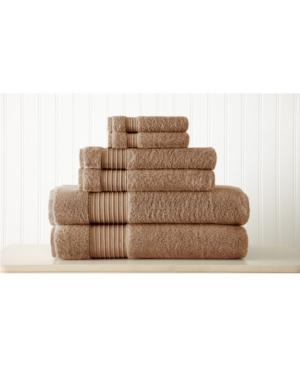 6-Piece 100% Turkish Cotton Towel Set Bedding