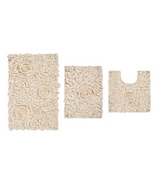 Bellflower Bath Rug 3 Pc