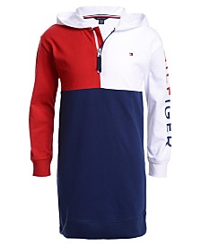 Tommy Hilfiger Big Girls Colorblocked Jersey Dress