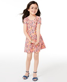 Epic Threads Toddler Girls Birds-Print Bow-Back Dress, Created for Macy's
