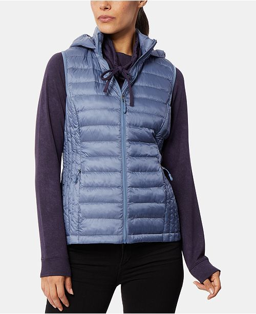 32 Degrees Hooded Packable Down Puffer Vest