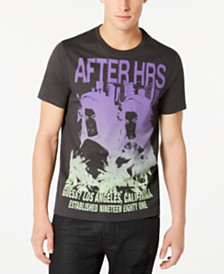 GUESS Men's After Hours Logo Graphic T-Shirt