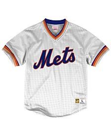 Mitchell & Ness Men's New York Mets Mesh V-Neck Jersey