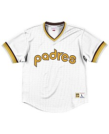 Mitchell & Ness Men's San Diego Padres Mesh V-Neck Jersey