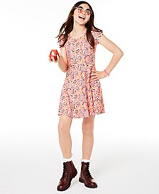 Big Girls Birds-Print Bow-Back Dress, Created for Macy's