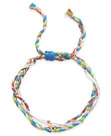 Kitsch Gold-Tone Bead Charm String Slider Bracelet