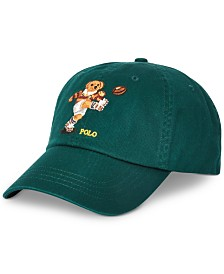 Polo Ralph Lauren Men's Rugby Bear Cotton Cap