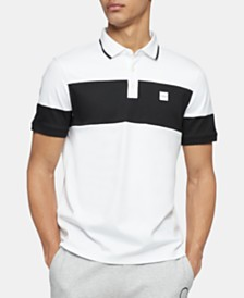 Calvin Klein Men's Regular-Fit Colorblocked Polo Shirt