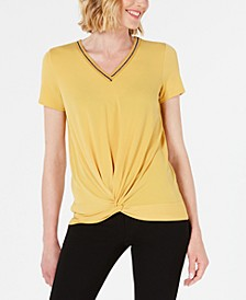 V-Neck Twist-Front Top, Created for Macy's