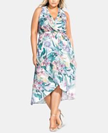 City Chic Trendy Plus Size Zaliki High-Low Dress