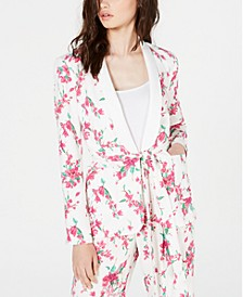 Venus Floral-Print Belted Jacket