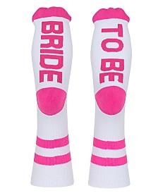 SOCK TALK Ladies' Crew Socks BRIDE TO BE