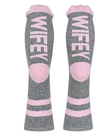 SOCK TALK Ladies' Crew Socks WIFEY