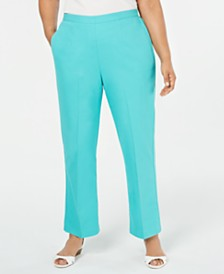 Alfred Dunner Plus Size Coastal Drive Straight-Leg Pants