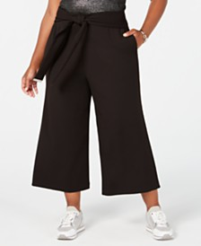 MICHAEL Michael Kors Plus Size Wide-Leg Cropped Pants