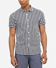 Men's Vertical Striped Shirt, Created for Macy's