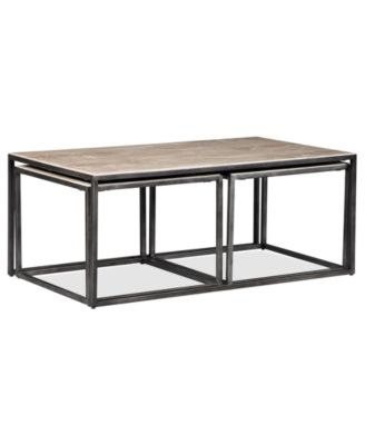 Monterey coffee table rectangular nesting furniture macys watchthetrailerfo