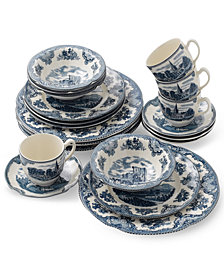 Johnson Bros.Old Britain Castle Blue 20 Pc. Dinnerware Set, Service for 4
