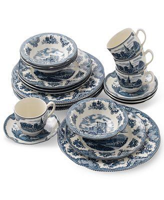 Johnson Bros.Old Britain Castle Blue 20 Pc. Dinnerware Set, Service for 4