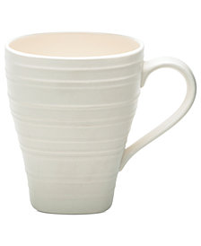Mikasa Dinnerware, Swirl Square White Mug