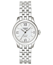 Watch, Women's Swiss Automatic Le Locle Stainless Steel Bracelet 42mm T41118333