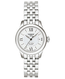 Tissot Watch, Women's Swiss Automatic Le Locle Stainless Steel Bracelet 42mm T41118333
