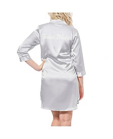 Cathy's Concepts Team Bride Silver Satin Night Shirt