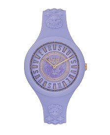 Versus Versace Women's Fire Island Violet Silicone Strap 46MM Watch
