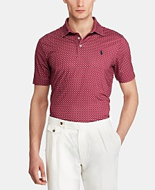 Polo Ralph Lauren Men's Big & Tall Classic Fit Dotted Performance Polo