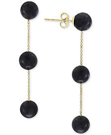 EFFY® Lapis Lazuli (6mm) Triple Drop Earrings in 14k Gold (Also in Onyx)