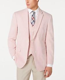 Tommy Hilfiger Men's Modern-Fit THFlex Stretch Seersucker Stripe Sport Coat & Vest Suit Separates