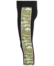 Big Girls Side-Stripe Capri Leggings, Created for Macy's
