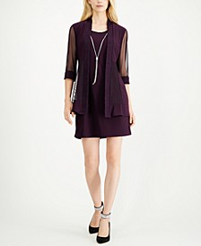 Petite Jacquard Dress & Jacket