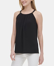 Calvin Klein Embellished Halter Top