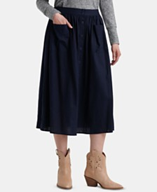 Lucky Brand Karlie Button-Front Skirt