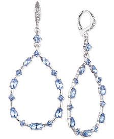Givenchy Crystal Open Teardrop Earrings