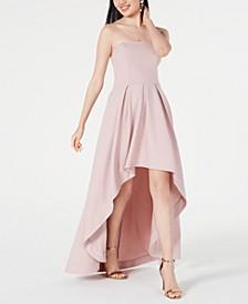 Juniors' Strapless High-Low Dress