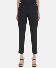 Calvin Klein Embellished Straight-Leg Pants
