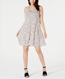 Style & Co Printed Crisscross Strap Dress, Created for Macy's
