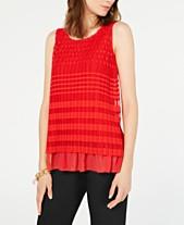 8819ea73e90 Alfani Geo-Lace Top, Created for Macy's