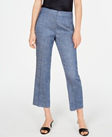 Elie Tahari Cropped Straight-Leg Pants
