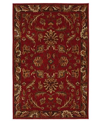 karastan area rug studio by karastan knightsen walnut park red 5 39 6