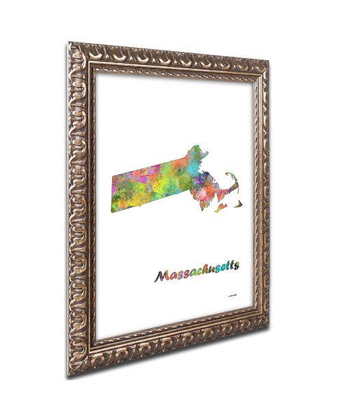Trademark Global Marlene Watson 'Massachusetts State Map-1