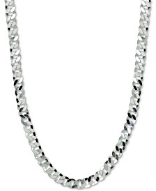 "Giani Bernini Wide Curb Link 18"" Chain Necklace in Sterling Silver, Created for Macy's"