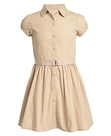 Big Girls Plus Cotton Poplin Shirtdress