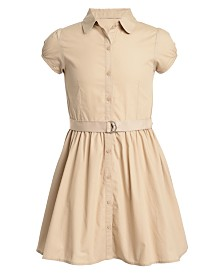 Nautica Big Girls Cotton Poplin Shirtdress