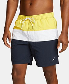 Men's Big & Tall Colorblocked Swim Trunks