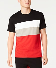 I.N.C. Men's Swellers Men's Colorblocked Stripe Graphic T-Shirt, Created for Macy's